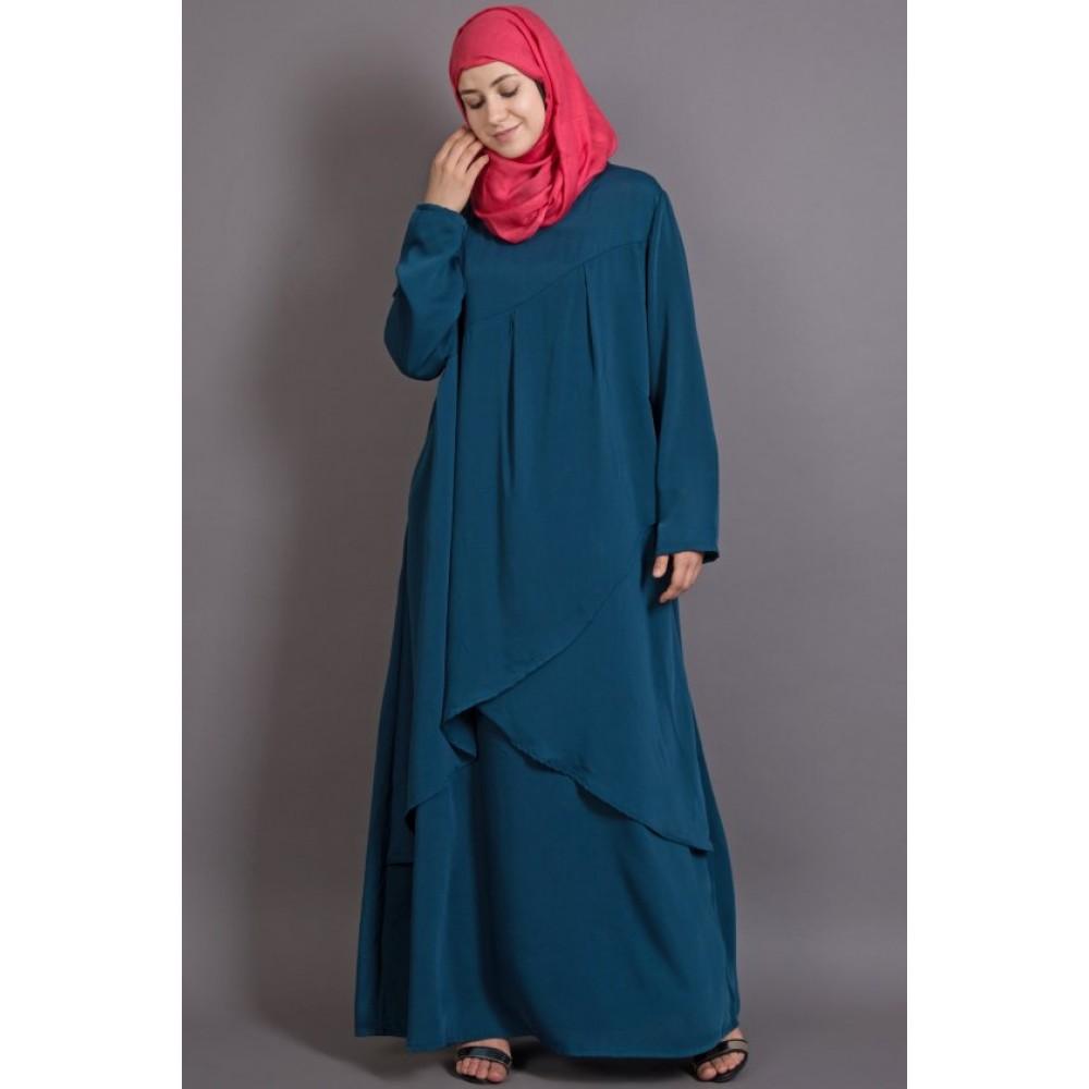 Nazneen Overlapped Panel Casual Abaya