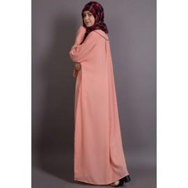 Nazneen Scallop Yoke Bohemian Casual Abaya