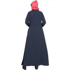 Nazneen Extra Jacket Front Open Casual Abaya