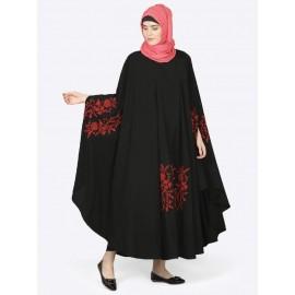 Nazneen Red Embroidered Irani Kaftan