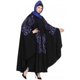 Nazneen Purple Embroidered Irani Kaftan