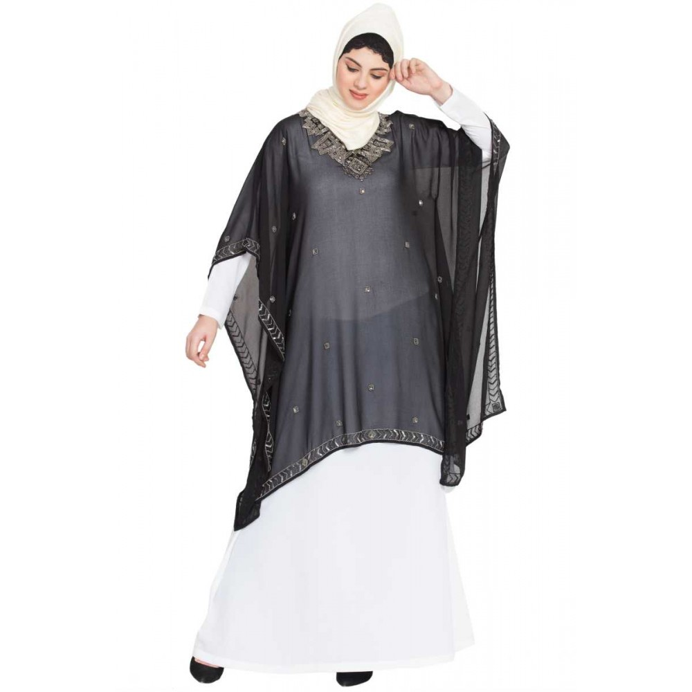 Nazneen Double Layer Embellished Party Abaya